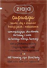 Parfumuri și produse cosmetice Șervețel pentru bronzare, de față și corp - Ziaja Cupuacu
