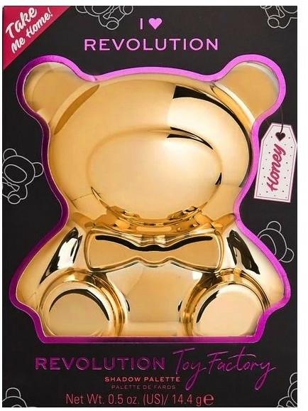 Paletă farduri de ochi - I Heart Revolution Teddy Bear Palette Honey — Imagine N2