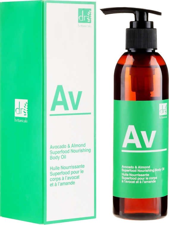 "Ulei de corp ""Avocado și Migdale"" - Dr. Botanicals Avocado & Almond Superfood Nourishing Body Oil — Imagine N1"