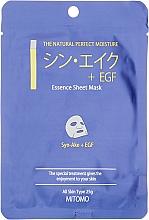 """Parfumuri și produse cosmetice Mască din țesătură pentru față """"Peptide de șarpe + EGF"""" - Mitomo Essence Sheet Mask Syn-Ake + EGF"""