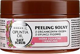 Parfumuri și produse cosmetice Scrub de sare cu ulei organic de smochine - GlySkinCare Opuntia Oil Salt Scrub