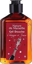 "Set ""Căpșuni și Șampanie"" - Nature De Marseille (sh/gel/150ml +cr/60ml + b/balm/100ml + soap/95g) — Imagine N4"