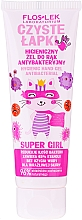 Parfumuri și produse cosmetice Gel antibacterian pentru mâini - Floslek Super Girl Hygienic Antibacterial Hand Gel