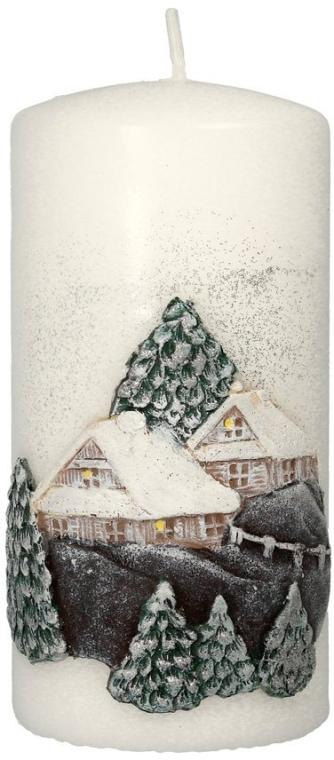 "Lumânare decorativă ""Christmas house"", 7x14 cm - Artman Christmas House Candle — Imagine N1"