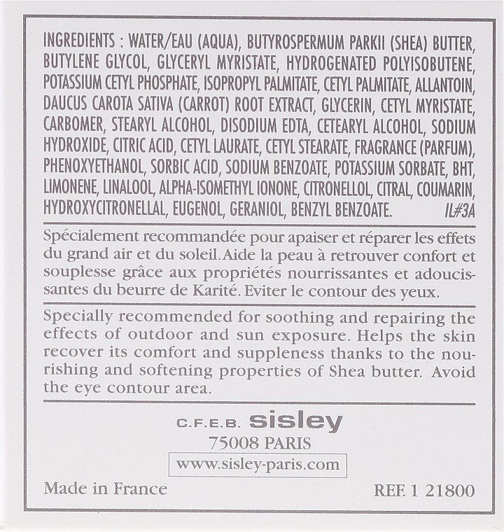 Cremă regeneratoare - Sisley Botanical Restorative Facial Cream With Shea Butter — Imagine N3