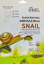 Parfumuri și produse cosmetice Mască de țesut cu extract de mucină de melc - Ekel Super Natural Ampoule Mask Snail
