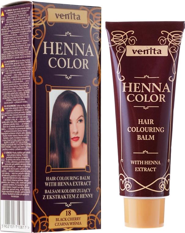 Balsam pentru păr cu extract de Henna - Venita Henna Color