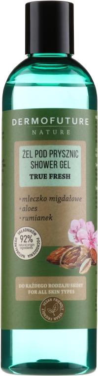 """Gel de duș """"Lapte de migdale, Aloe vera și mușețel"""" - Dermofuture Nature Shower Gel True Fresh"""