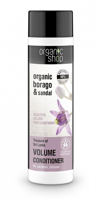 "Balsam de păr ""Comoara din Sri Lanka"" - Organic Shop Organic Sandal and Indian Nut Volume Conditioner — Imagine N1"