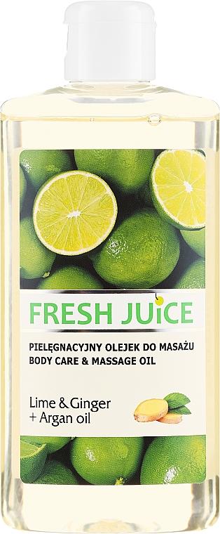 """Ulei pentru masaj """"Lime și Ghimbir"""" - Fresh Juice Energy Lime&Ginger+Argan Oil"""