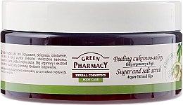 "Parfumuri și produse cosmetice Scrub de zahăr pentru corp ""Argan și Smochine"" - Green Pharmacy"