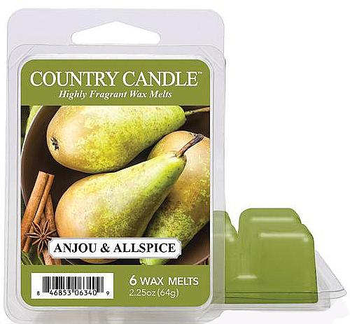 Ceară pentru lampă aromatică - Country Candle Anjou & Allspice Wax Melts — Imagine N1