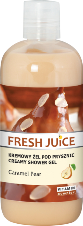 "Cremă-gel de duș ""Pară în caramel"" - Fresh Juice Caramel Pear Creamy Shower Gel"