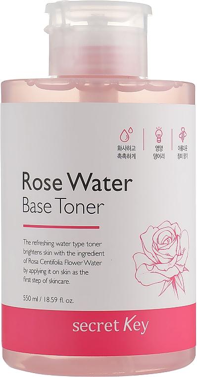 Toner pe bază de apă de trandafiri - Secret Key Rose Water Base Toner