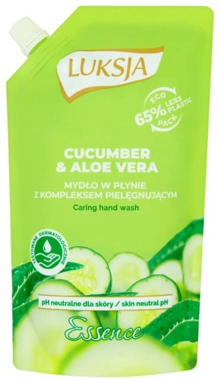"Săpun lichid ""Castraveți și Aloe"" - Luksja Cucumber & Aloe Soap (doy-pack)"