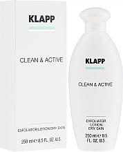 Parfumuri și produse cosmetice Exfoliant pentru ten uscat - Klapp Clean & Active Exfoliator Dry Skin