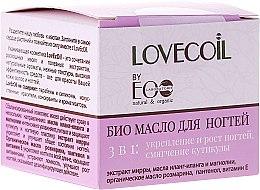 Parfumuri și produse cosmetice Ulei Bio pentru unghii 3 în 1 - ECO Laboratorie Lovecoil Nail Care Bio-Oil 3 in 1