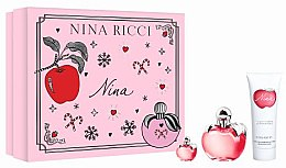 Parfumuri și produse cosmetice Nina Ricci Nina - Set (edt/50ml + b/lot/75ml + edt/4ml)