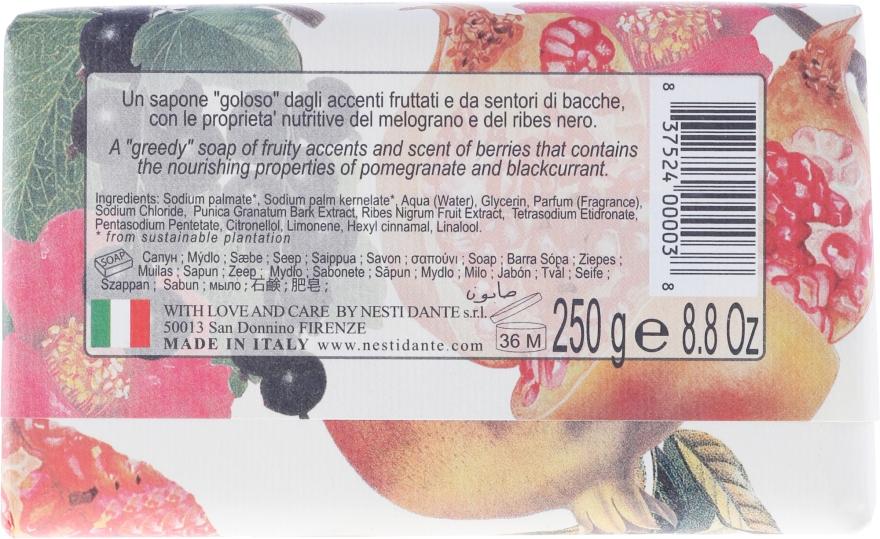 """Săpun """"Rodie și coacăză neagră"""" - Nesti Dante Il Frutteto Soap — Imagine N2"""