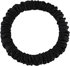 """Parfumuri și produse cosmetice Elastic din mătase naturală pentru păr, neagră """"Skinny"""" - Makeup Skinny Scrunchie Black"""