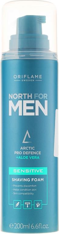 Spumă de ras pentru piele sensibilă - Oriflame North For Men Sensitive Shaving Foam — Imagine N1