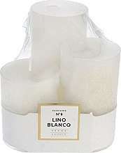 Parfumuri și produse cosmetice Set lumânări aromate - Artman Glass Classic Perfume №8 Lino Blanco Candle (candle/3pc)