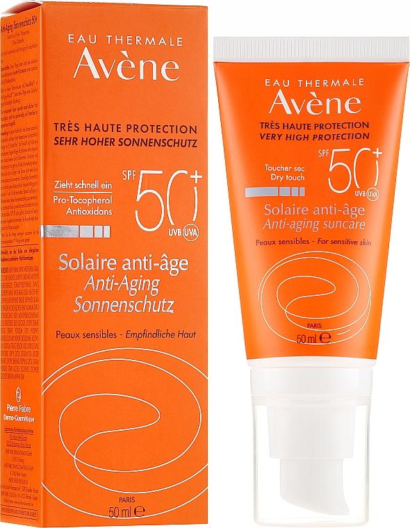 Cremă protecție solară - Avene Solaire Anti-Age SPF 50 + — Imagine N1