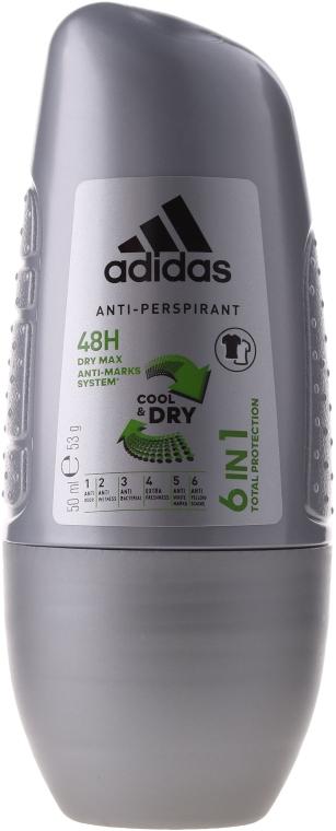 Deodorant roll-on - Adidas Action3 Cool&Dry/M6 în 1 — Imagine N1