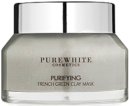 Parfumuri și produse cosmetice Mască purificatoare cu argilă verde franceză - Pure White Cosmetics Purifying French Green Clay Mask