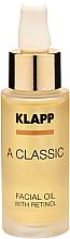 Parfumuri și produse cosmetice Ulei cu retinol pentru față - Klapp A Classic Facial Oil With Retinol