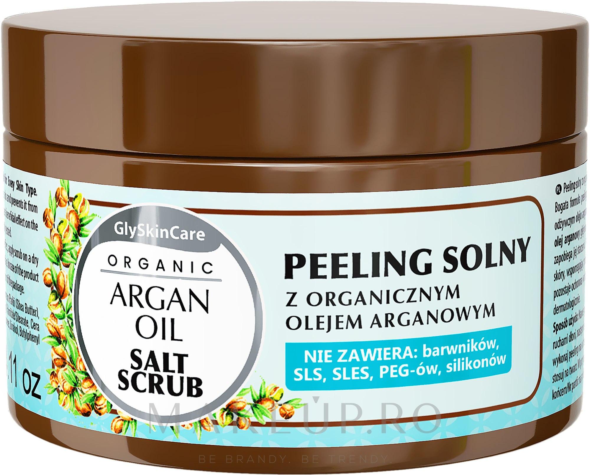 Peeling de sare cu ulei de argan - GlySkinCare Argan Oil Salt Scrub — Imagine 400 g