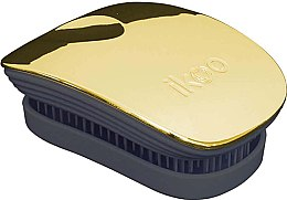 Parfumuri și produse cosmetice Perie de păr - Ikoo Pocket Soleil Metallic Black