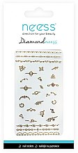 Parfumuri și produse cosmetice Nail Art Stickers, 3712 - Neess Diamondneess