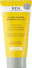 Parfumuri și produse cosmetice Cremă matifiantă cu protecție solară pentru față - Ren Clean Screen Mattifying Face Sunscreen SPF 30