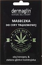 Parfumuri și produse cosmetice Mască de față - Dermaglin For Men Natural Product