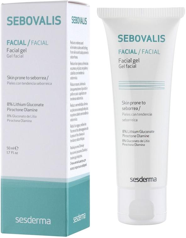 Gel pentru față - SesDerma Laboratories Sebovalis Facial Gel — Imagine N1