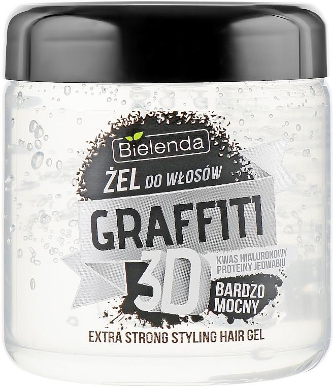 Gel de păr, cu acid hialuronic și proteine de mătase - Bielenda GRAFFITI 3D Extra Strong Stayling Hair Gel