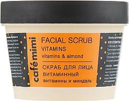 "Parfumuri și produse cosmetice Scrub de față ""Vitamine"" - Cafe Mimi Facial Scrub Vitamins"