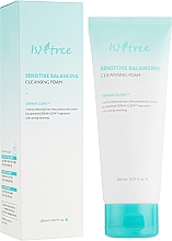 Parfumuri și produse cosmetice Spumă echilibrantă pentru pielea sensibilă - IsNtree Sensitive Balancing Cleansing Foam