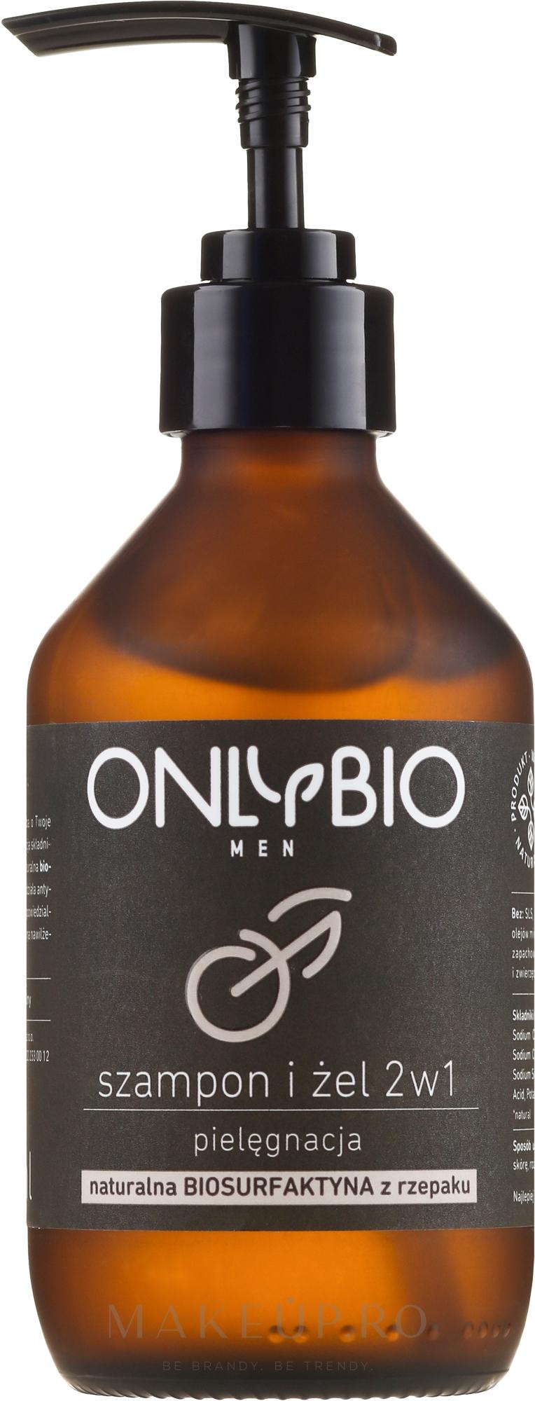 Șampon de păr și corp - Only Bio — Imagine 250 ml