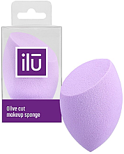 Parfumuri și produse cosmetice Burete de machiaj, violet - Ilu Sponge Olive Cut Purple