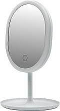 Parfumuri și produse cosmetice Oglindă cu lumină LED 498579, albă - Inter-Vion LED With Mini USB