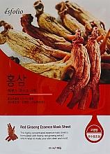 """Parfumuri și produse cosmetice Mască din țesătură """"Extract de ginseng"""" - Esfolio Red Ginseng Essence Mask Sheet"""