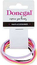 Parfumuri și produse cosmetice Elastice de păr 6 buc, FA-9934, colorate - Donegal