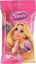"""Parfumuri și produse cosmetice Șervețele umede """"Prințese"""" 15 bucăți, Rapunzel - Smile Ukraine Princess"""