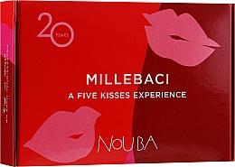 Parfumuri și produse cosmetice Set No. 1 - NoUBA Millebaci Box Set 5 Kisses Experience (lipstick/5x6ml)