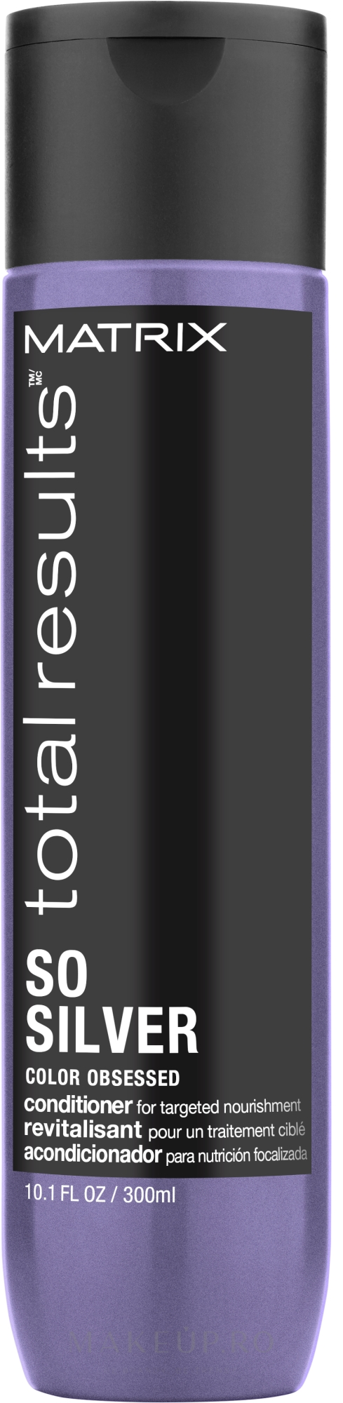 Balsam pentru păr vopsit - Matrix Total Results Color Obsessed So Silver Conditioner — Imagine 300 ml