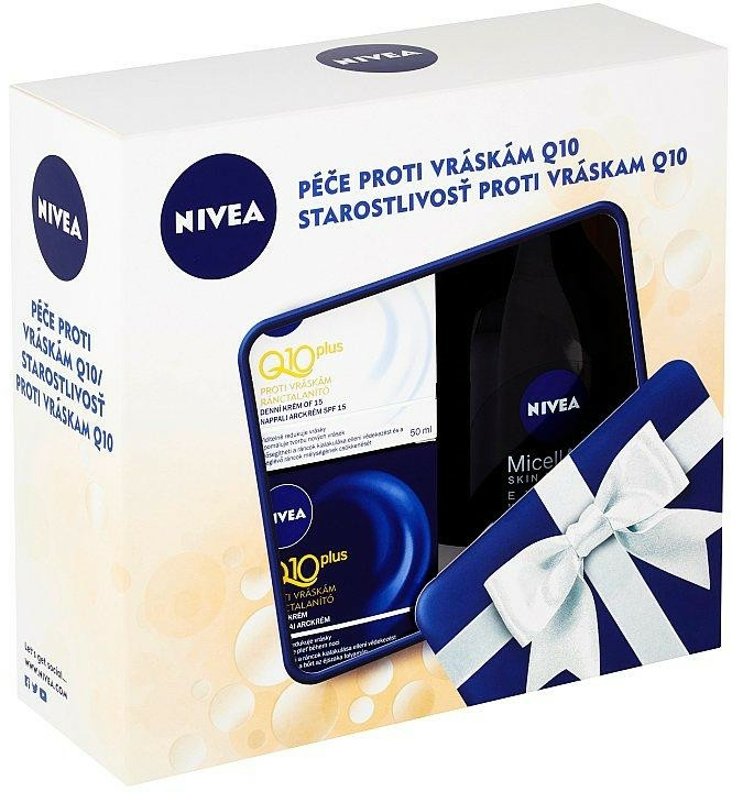 Set - Nivea Face Q10 Plus Set (f/d/cr/50ml + f/n/cr/50ml + m/water/400ml) — Imagine N1