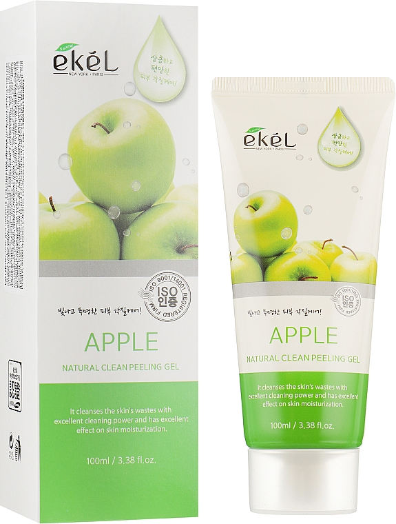 "Peeling-gel pentru față ""Măr"" - Ekel Apple Natural Clean Peeling Gel — Imagine N1"
