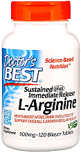 Parfumuri și produse cosmetice L-arginină, 500 mg, 120 comprimate cu strat dublu - Doctor's Best